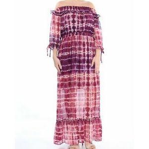 JESSICA SIMPSON: Women's Pink Tie Dye Maxi Dress